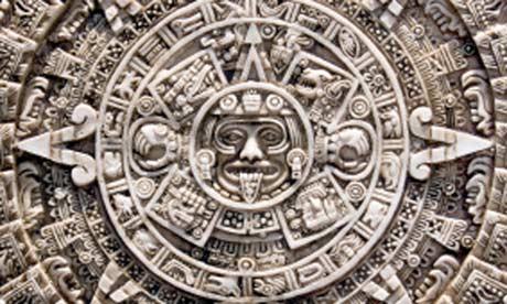 A Mayan stone calendar