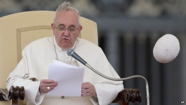 The winds of change blow off Francis' zucchetto